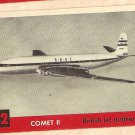 1956 Topps Jets card #32 Comet II (2), British Jet Airliner