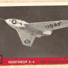1956 Topps Jets card #22 Northrop X-4, US Research Aircraft