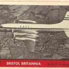 1956 Topps Jets card #74 Bristol Britannia, British Transport