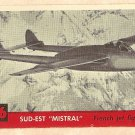 1956 Topps Jets card #86 Sud-Est Mistral, French Jet Fighter