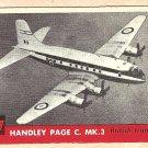 1956 Topps Jets card #187 Handley Page C. MK.3, British Transport