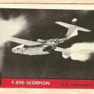1956 Topps Jets card #8 F-89D Scorpion, US Interceptor