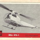 1956 Topps Jets card #192 Bell 47G-1, US Helicopter
