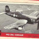 1956 Topps Jets card #197 F4U-5NL Corsair, US Fighter