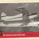 1956 Topps Jets card #117 De Havilland Beaver, Canadian Transport