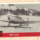 1956 Topps Jets card #147 Fiat G.46, Italian Trainer