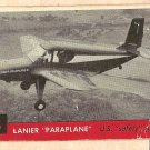 1956 Topps Jets card #3 Lanier Paraplane, US Safety Plane