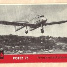 1956 Topps Jets card #126 Potez 75, French Attack Plane