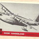 1956 Topps Jets card #123 Short Sunderland, British Flying boat