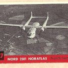 1956 Topps Jets card #127 Nord 2501 Noratlas, French Transport