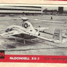 1956 Topps Jets card #209 McDonnell XV-1, US Convertiplane