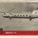 1956 Topps Jets card #75 Bristol 173, British Transport Helicopter