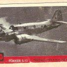 1956 Topps Jets card #20 (B) Fokker 2.13, Netherlands Crew Trainer