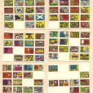 6 different 1970 Topps Stacks of Stickers non-sports sticker cards - hard to find! Lot #2