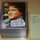 1978 Topps Mork & Mindy TV show cards 7 cards short of a complete set, NM Robin Williams Pam Dawber