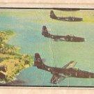 1954 Bowman Power For Peace military card #38 FH-1 Phantom jet, Good - creased
