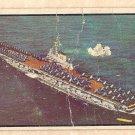 1954 Bowman Power For Peace military card #83 USS FDR aircraft carrier F/G