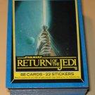 1983 Topps Return of the Jedi Series 2 cards, near set, 4 cards missing, EX/NM Luke Skywalker