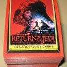 1983 Topps Return of the Jedi Series 1 cards, near set, 3 cards missing, EX/NM Luke Skywalker lot1