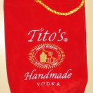 Tito's Handmade Vodka felt bag cover holder pouch carrier, embroidered - PERFECT condition!