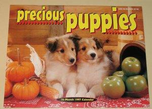 1997 Precious Puppies calendar - 8.5x11 Huskies Beagles Samoyeds Dobies, Shelties, more!