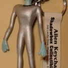 "Alien figure keychain, Shadowbox, 1996 2.5"" tall"