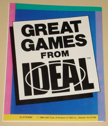 1984 Great Games From Ideal catalog - Trouble, Headache, PopOmatic & more. NM
