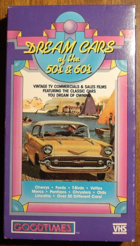Dream Cars of the 1950's & 1960's VHS video tape movie film,TV commercials GTO, T-Bird, many more
