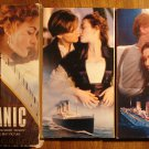 Titanic 2 VHS set video tape movie film, Leonardo DiCaprio, Kate Winslet, w/ slipcase