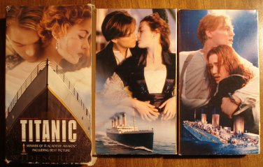 Titanic 2 VHS set video tape movie film, Leonardo DiCaprio, Kate Winslet, w/ slipcase