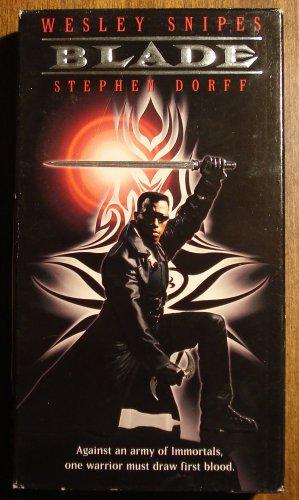 Blade VHS video tape movie film, Wesley Snipes, a badass vampire hunter - he's no Buffy!