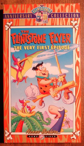 Flintstone Flyer - 1st episode VHS animated video tape movie film cartoon, Fred Wilma Barney Betty