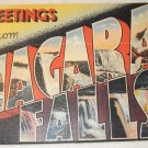 1940's(?) Greetings From Niagara Falls souvenir postcard fold out picture pack unused