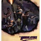 The Annihilators movie poster 27 x 40 folded, never displayed, Viet Nam vets (like Rambo)