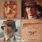 4 Indiana Jones & The Last Crusade movie lobby style cards photos, never displayed! Harrison Ford