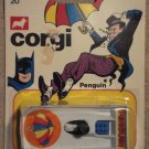Corgi Penguin mobile car MINT on card, never opened, 1966 or 1979, Batman