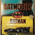 1989 Ertl Batmobile diecast car, MINT on card, 1st version, Batman in shadow
