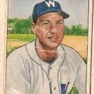 1950 Bowman baseball card #53 Clyde Vollmer good Washington Senators