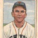 1950 Bowman baseball card #65 Dave Koslo good New York Giants