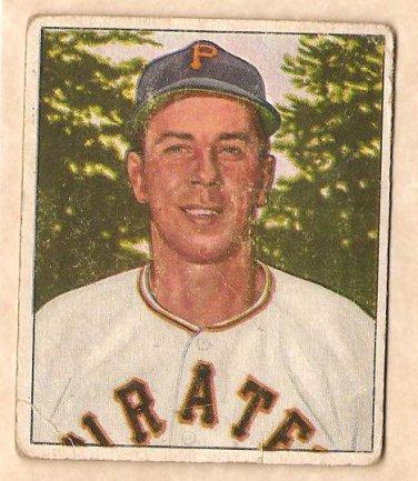 1950 Bowman baseball card #86 Stan Rojek G/VG Pittsburgh Pirates