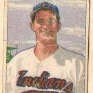 1950 Bowman baseball card #132 James Vernon fair Cleveland Indians