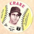 1976 Crane Potato Chips baseball disc card Joe Torre New York Mets NM OC