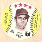 1976 MSA baseball disc card (Blank Backed) Joe Torre New York Mets