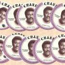 1976 Crane Potato Chips football disc card Mean Joe Greene (Green) Pittsburgh Steelers 10 cards Lot1
