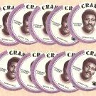 1976 Crane Potato Chips football disc card Mean Joe Greene (Green) Pittsburgh Steelers 10 cards Lot3