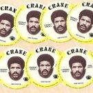 1976 Crane Potato Chips football disc card Isaac Curtis Cincinnati Bengals 7 cards LOT #1