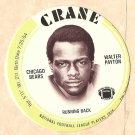 1976 Crane Potato Chips football disc card Walter Payton (F) Chicago Bears NM/M OC Rookie