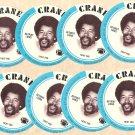 1976 Crane Potato Chips football disc card Charlie Sanders Detroit Lions NM/M 8 cards LOT1