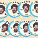 1976 Crane Potato Chips football disc card Charlie Sanders Detroit Lions NM/M 8 cards LOT2