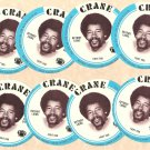 1976 Crane Potato Chips football disc card Charlie Sanders Detroit Lions NM/M 8 cards LOT3